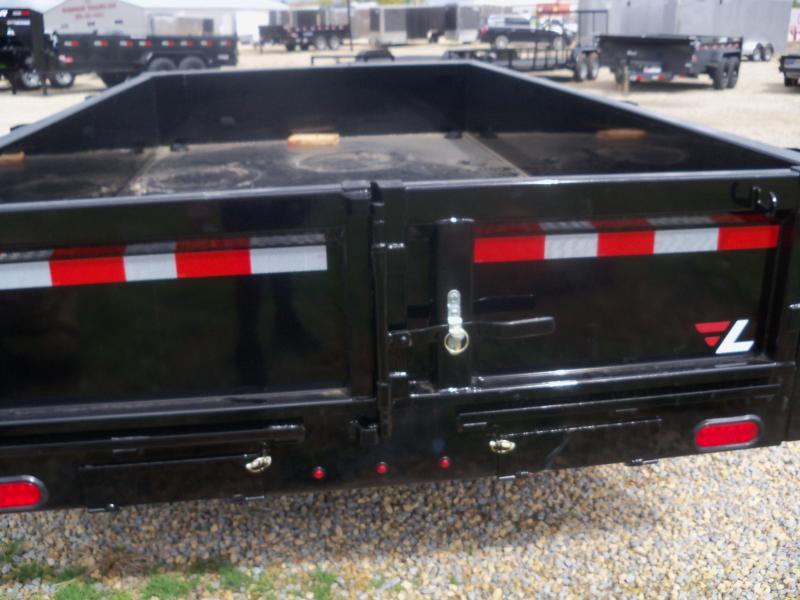 12X077 Lamar Black Dump Trailer Barn Doors Slide In Ramps DM771225