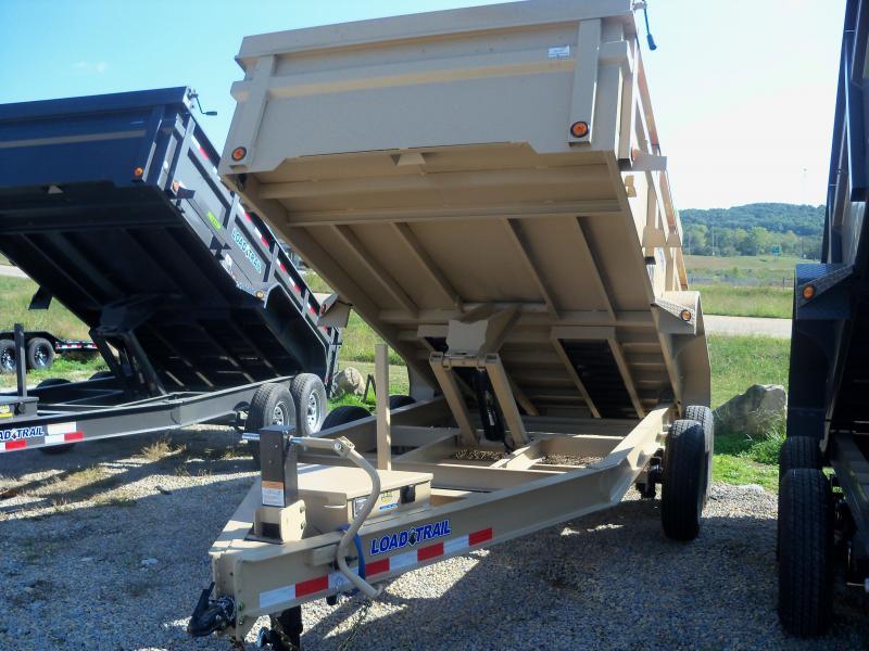 14X083 Load Trail Coyote Tan Dump Trailer Slide In Ramps DT8314072