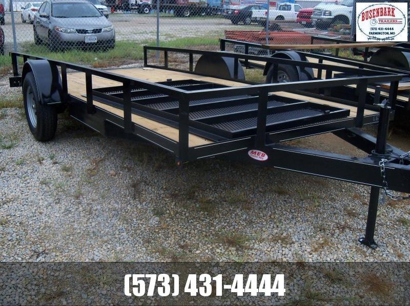 14X077 Busenbark Black Utility Trailer SA With Gate UT7714SA