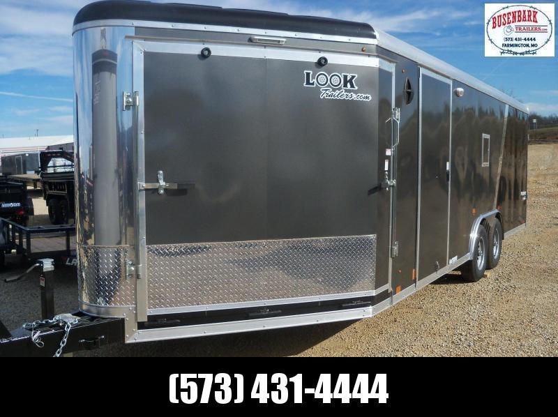 27X102 Look Gray Enclosed Cargo Trailer Puresport Auto-Snow LSAMA8.5X27TE3RH