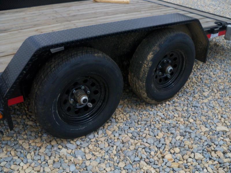 20X083 Load Trail Black Tandem Axle Carhauler Slide In Ramps XH832005