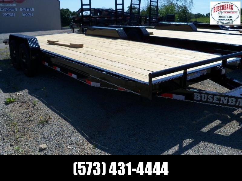 22X083 Lamar Black Equipment Hauler Utility Trailer 2' Dove Slide In Ramps  H6832227