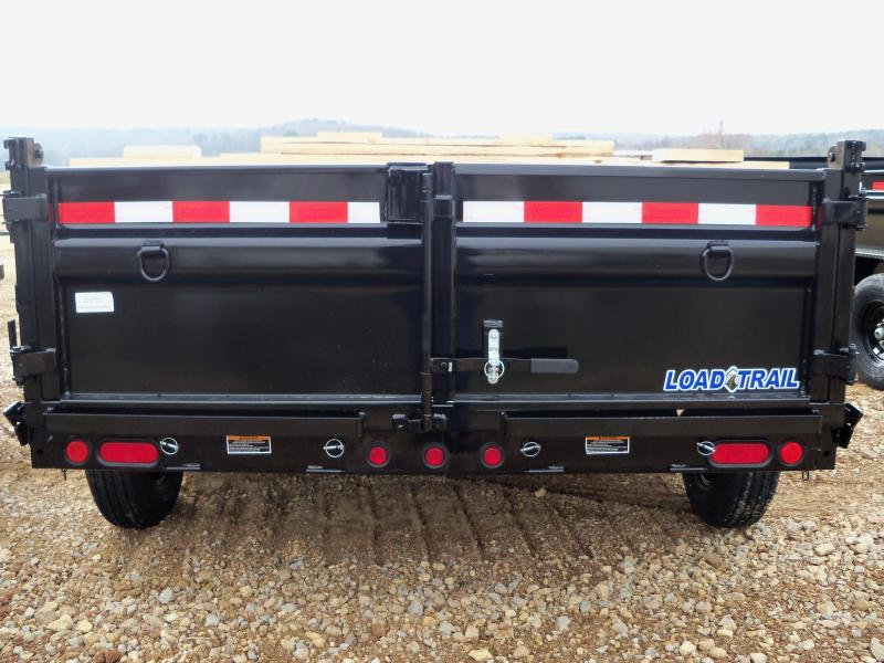 14X083 Load Trail Black Dump Trailer Slide In Ramps Max Step DT8314072