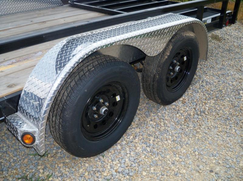 18X083 Load Trail Black Tandem Axle Utility Trailer 4' Gate XT8318032
