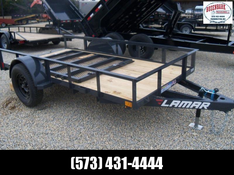 10X060 Lamar Gray Classic Utility Trailer 4' Gate Treated Wood UT601013