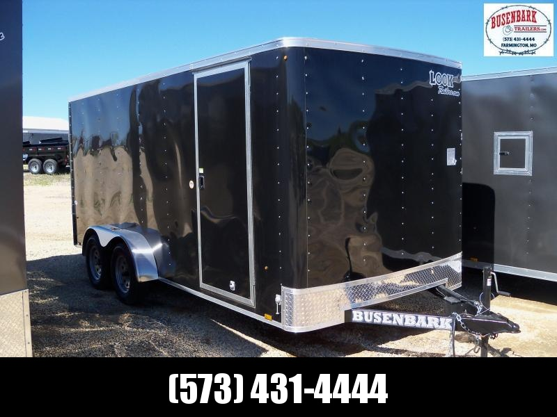 16X084 Look Black Enclosed Cargo Trailer STLC7X16TE2