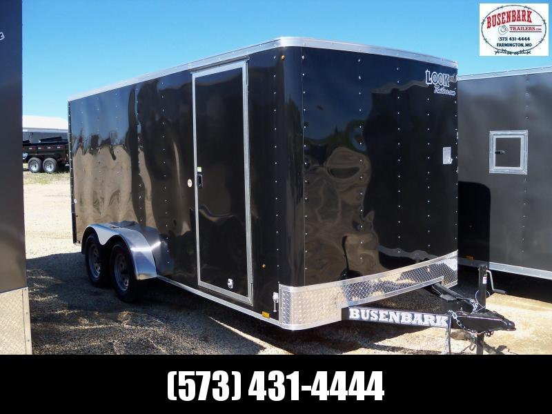 16X084 Look Black Enclosed Cargo Trailer STLC7X16TE2
