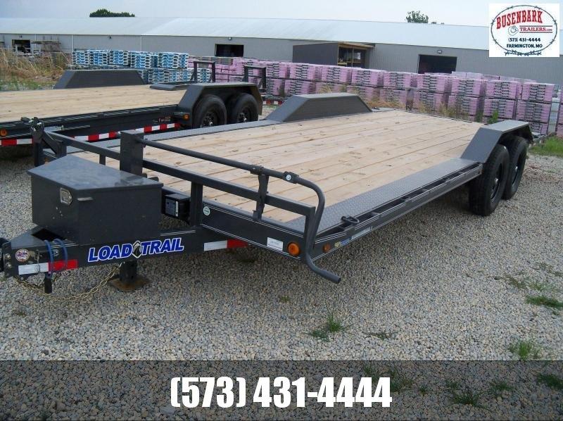 22X102 Load Trail Gray Carhauler Fold Up Ramps & Tool Box CH0222072