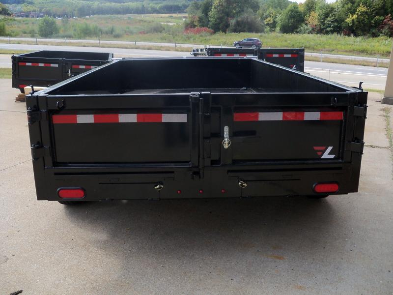 12X077 Lamar Black Dump Trailer Barn Doors Slide In Ramps DM771225