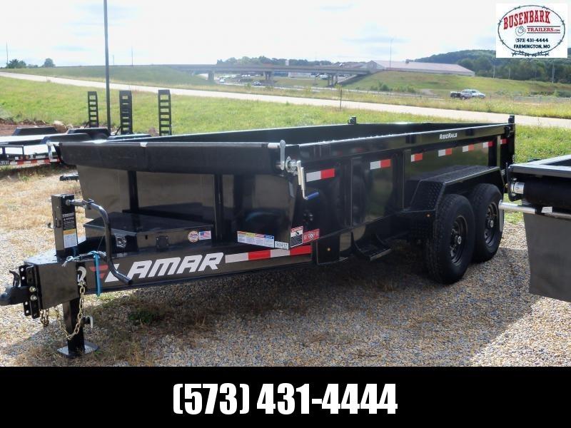 14X083 Lamar Black Dump Trailer Spreader Gate Slide In Ramps DL831427