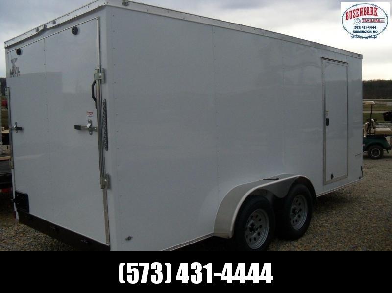 "16X084 Anvil White Enclosed Cargo Trailer 6'3"" Interior Ramp Rear Door AT7X16TA2"