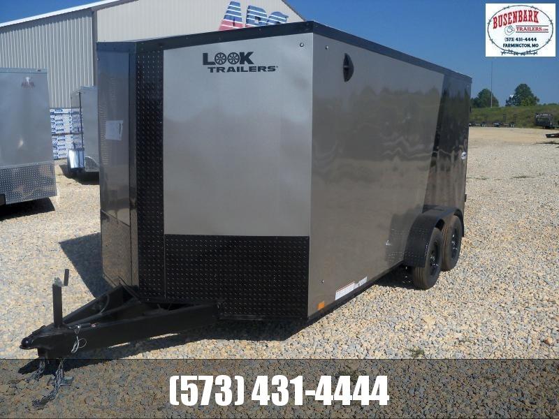 16X084 Look Charcoal Enclosed Cargo Trailer LSCBB7.0X16TE2FF