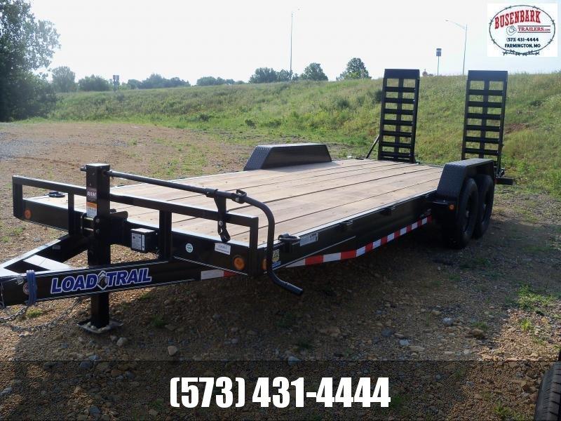 22X083 Load Trail Black Tandem Axle Carhauler Fold Up Ramps XH8322072