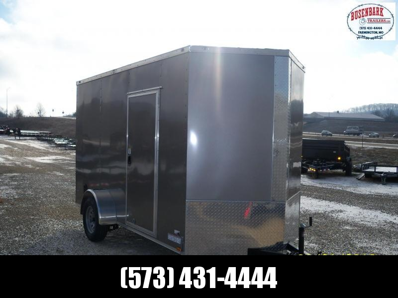 12X072 Anvil Pewter Cargo Trailer 7' Height AT6X12SA