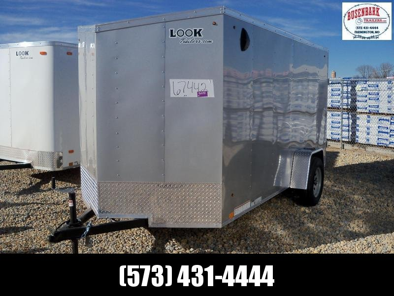 12X072 Look Silver Enclosed Cargo Trailer LSCAB6.0X12S12FF
