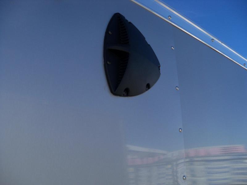 12X072 Look Silver Enclosed Cargo Trailer LSCAB6.0X12S12FF