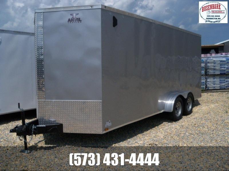 18X084 Anvil Silver Enclosed Cargo Trailer 7' Interior Ramp Rear Door AT7X18TA2