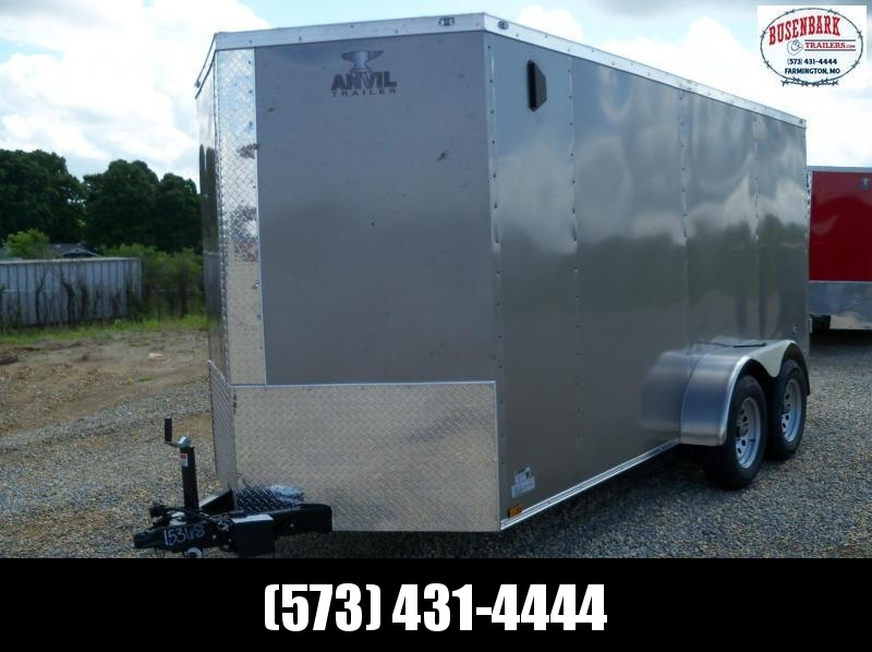 14X072 Anvil Pewter Double Door Cargo Trailer AT6X14TA2