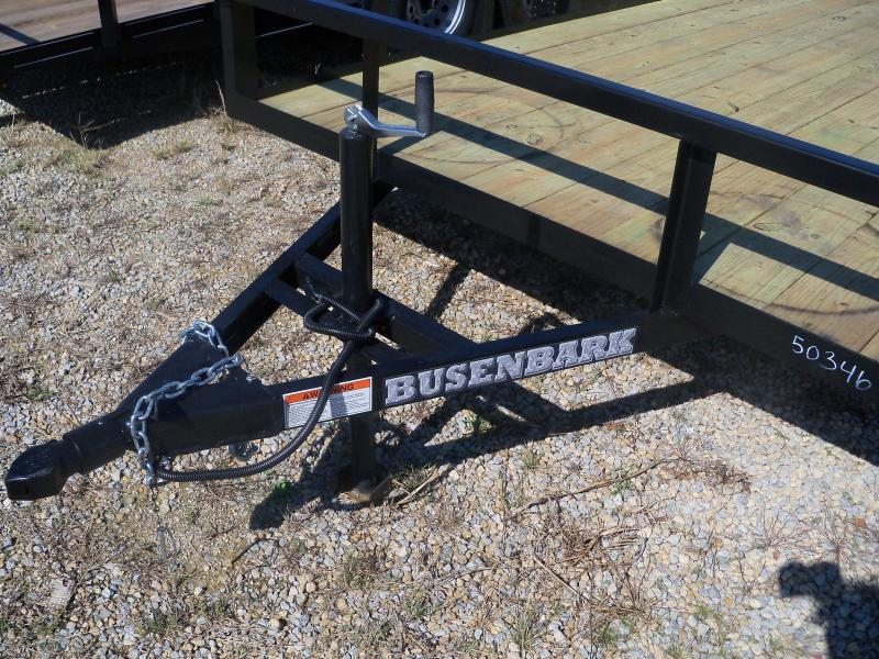14X076 Busenbark Black Utility Trailer With Gate UT7614BR