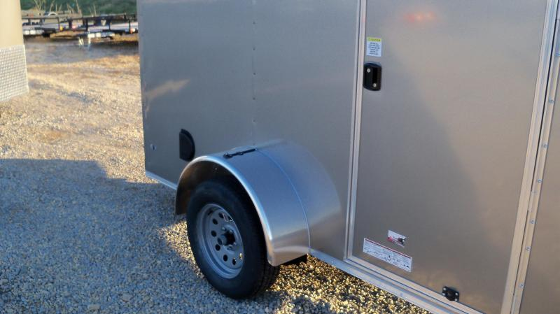 10X072 Anvil Pewter Flat Front Cargo Trailer AT6X10SA