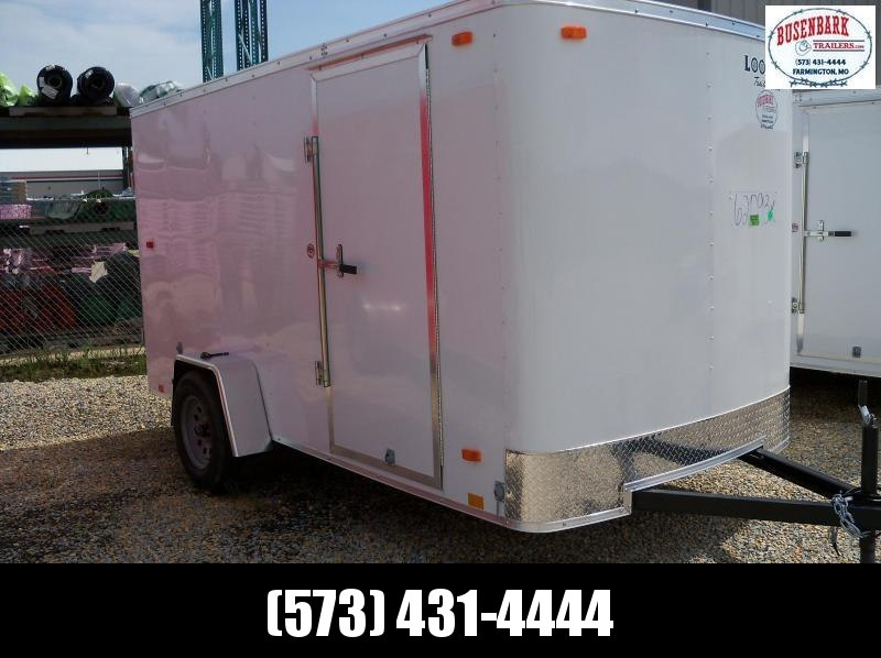 12x072 Look White Flat Top Cargo Trailer STLC6X12S12