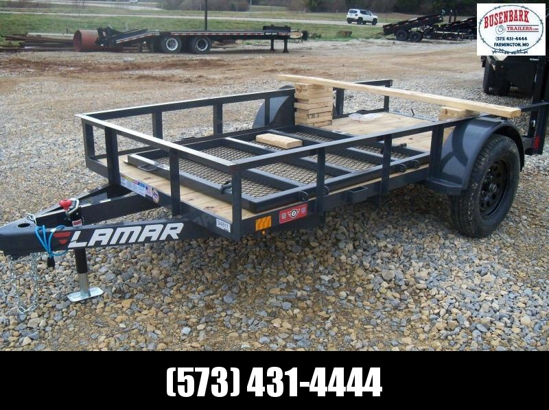 10X060 Lamar Gray Classic Utility Trailer 4' Gate Treated Wood UT601013
