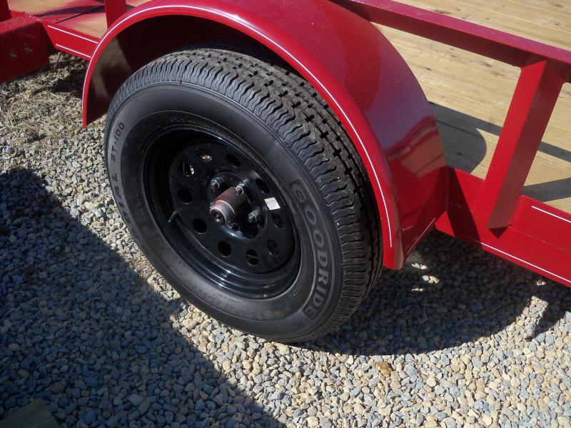 12X077 Busenbark Black Utility Trailer Dovetail 4' Gate Radials UT7712