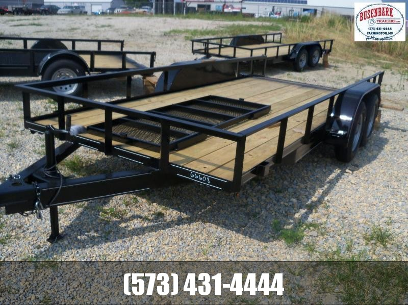 16X077 Busenbark Black Utility Trailer Dovetail & Gate UT7716