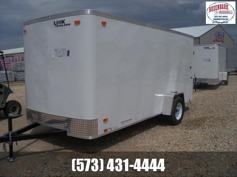 14X072 Look White Enclosed Cargo Trailer Ramp Rear Door LSCAA6.0X14S12FC