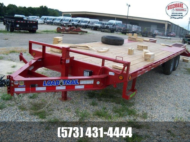 24X102 Load Trail Red Pintle Hook Trailer Dovetail & Flip Over Ramps PS0224072