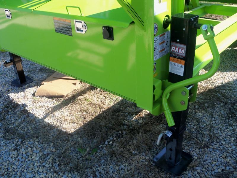 14X083 Load Trail Safety Green Gooseneck Dump Trailer Slide In Ramps GD8314072