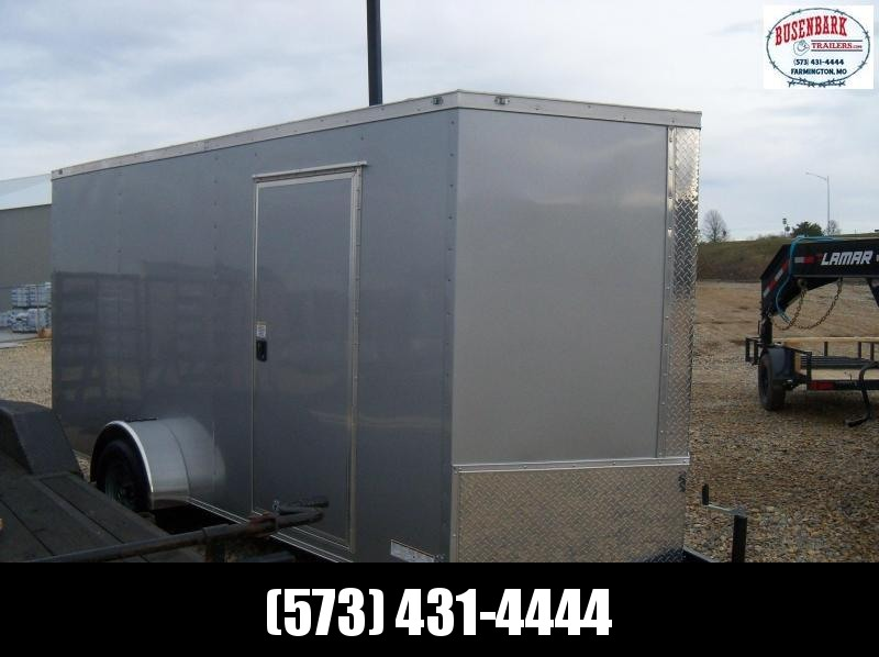 "14X072 Anvil Silver Enclosed Cargo Trailer 6'6"" Interior Height AT6X14SA"