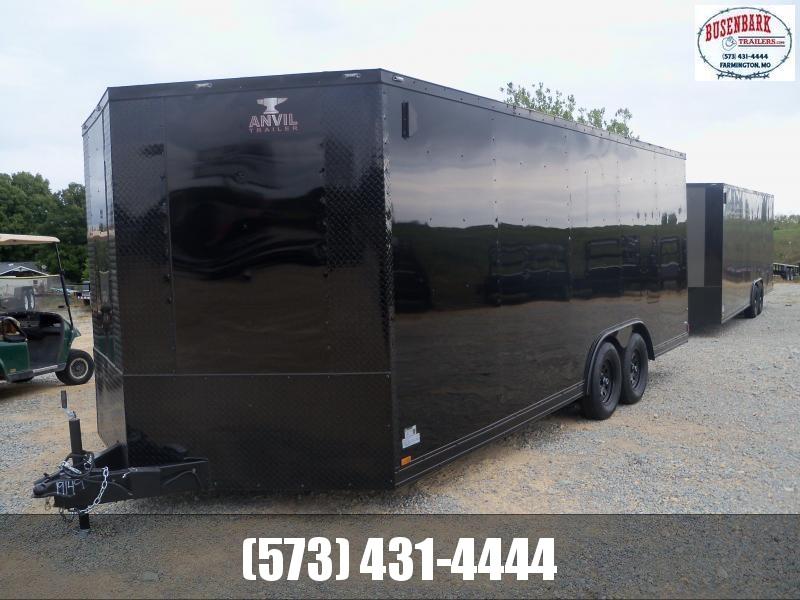 20X102 Anvil Black Enclosed Cargo Trailer Black ATP AT85X20TA2