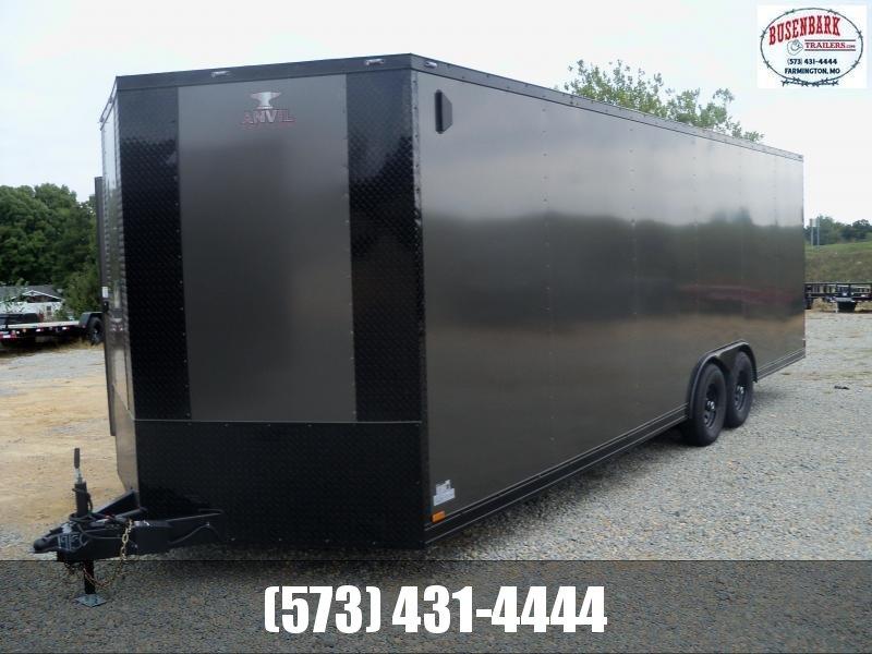 24X102 Anvil Charcoal 7' Enclosed Cargo Trailer #5200 Axles AT85X24TA3