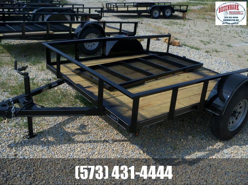8X077 Busenbark Black Utility Trailer Dovetail & Gate UT7708
