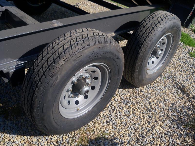14X083 Load Trail Gray Dump Trailer Slide In Ramps DT8314072