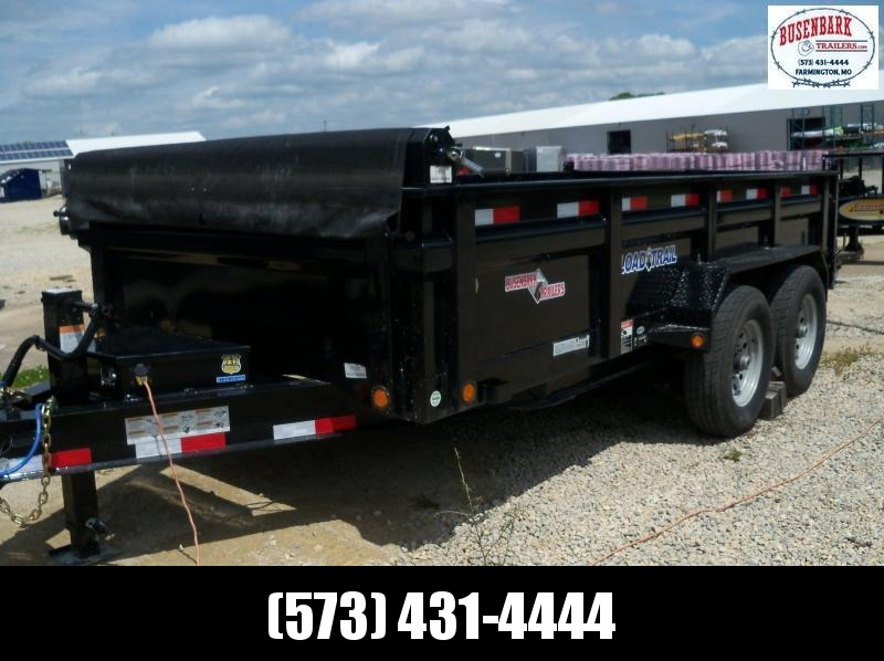 14x083 Load Trail Black Tandem Axle Dump Trailer Scissor Lift DT8314072