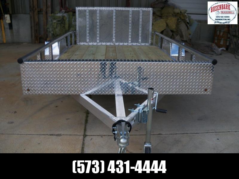 12X077 Blacktrail Aluminum Utility Trailer 3' Gate BRBUT1277