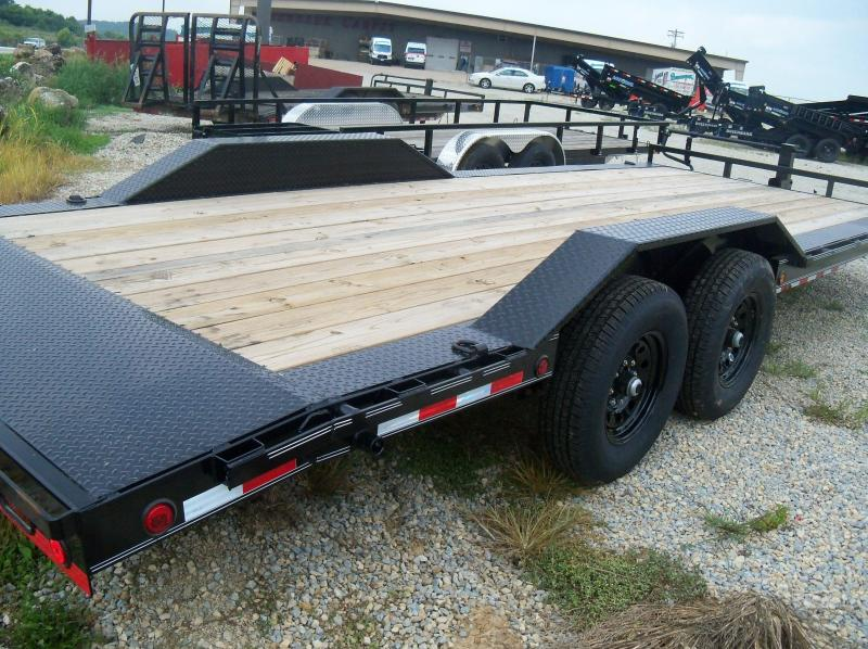 22X102 Load Trail Black Tandem Axle Carhauler Dovetail Drive Over Fenders CH0222072