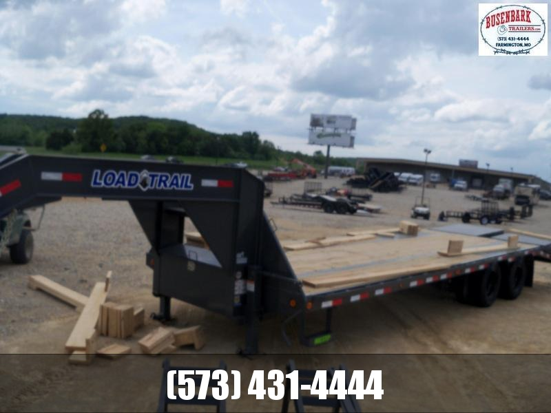 28X102 Load Trail Gray Gooseneck Low Pro Flatbed Trailer Max Ramps GP0228102