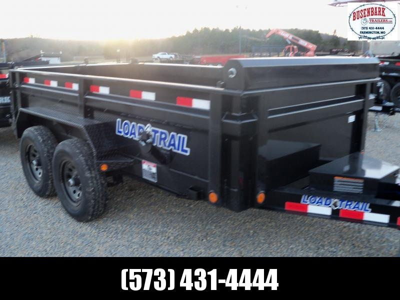 12X072 Load Trail Black Dump Trailer Slide In Ramps Max Step DT7212052