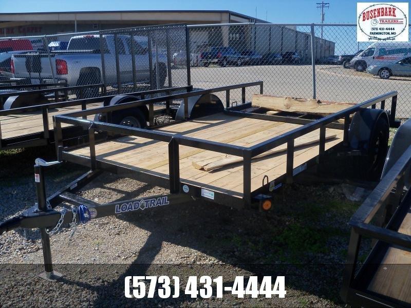 12X077 Load Trail Black Utility Trailer Fold Gate Square Side Rails Spare Mount SR7712031