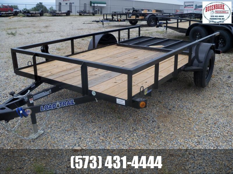 12X077 Load Trail Black Utility Trailer 4' Fold Gate SR7712031