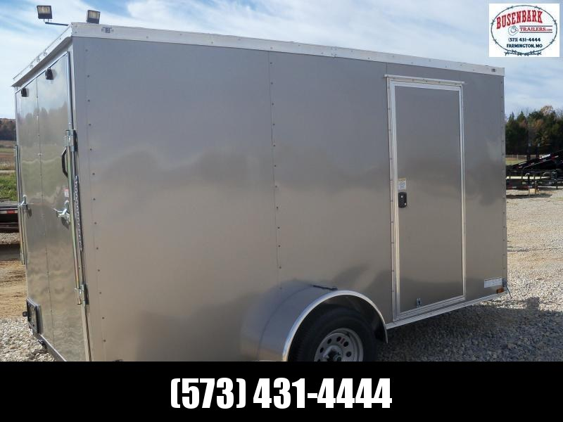 12x072 Anvil Pewter Enclosed Cargo Trailer Ramp Rear Door AT6X12SA