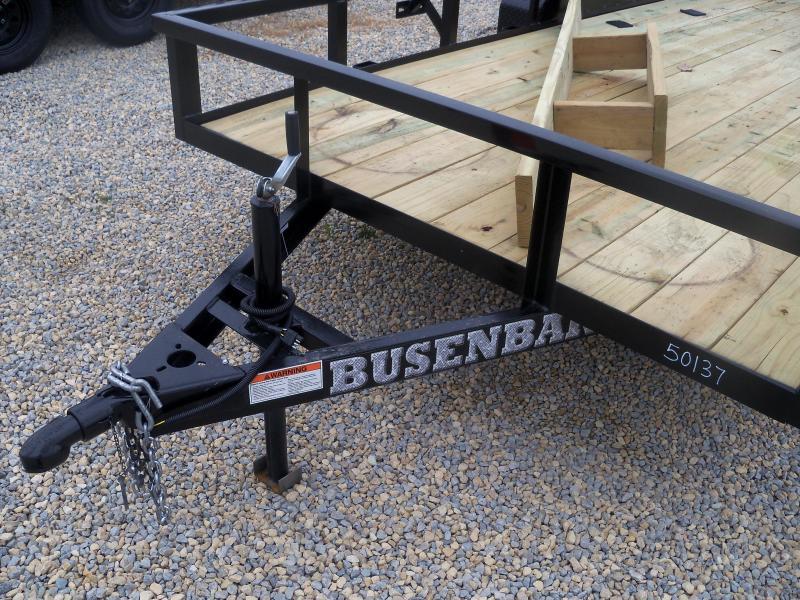 16X077 Busenbark Black Utility Trailer With Gate UT7716TA