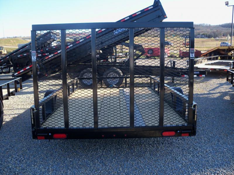 12X077 Lamar Black Classic Utility Trailer 4' Gate Treated Wood UT771213