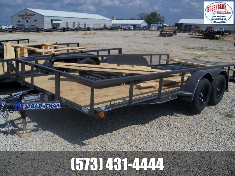 16X083 Load Trail Gray Utility Trailer Slide In Ramps UE8316032