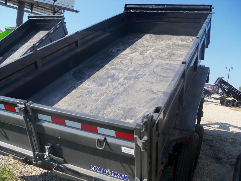 16X083 Load Trail Gray Gooseneck Dump Trailer Slide In Ramps GD8316072