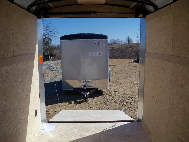 12X072 Look Charcoal Enclosed Cargo Trailer LSCAB6.0X12S12RD