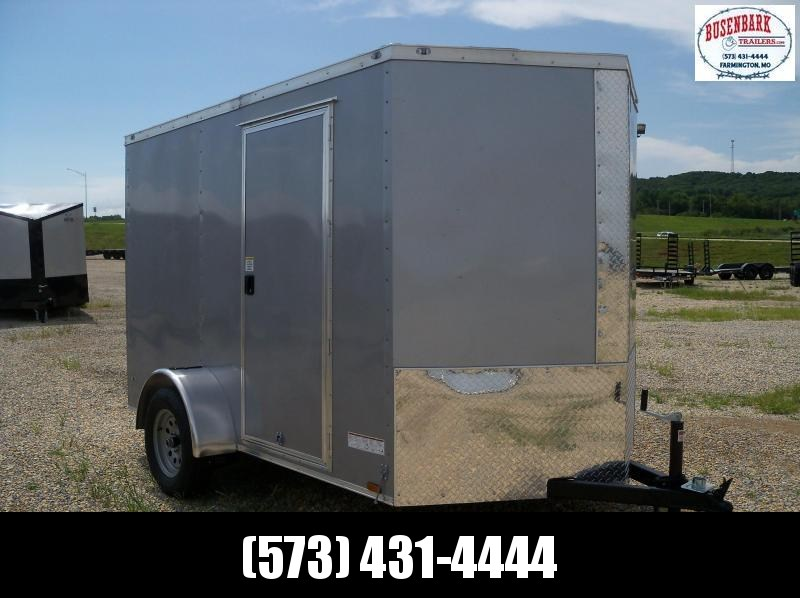 10x072 Anvil Silver Enclosed Cargo Trailer AT6X10SA